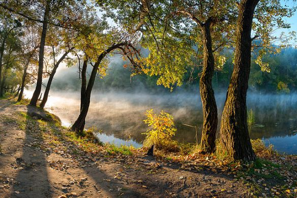 National park Holy Mountains, Donetsk Oblast, Ukraine