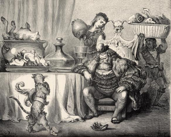 Chat Botté and the Ogre by Gustave Doré