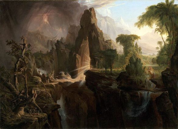 Expulsion from the Garden of Eden, by Thomas Cole (