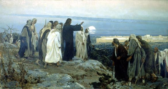 Flevit super illam; He wept over it, 1892, E. Simonet