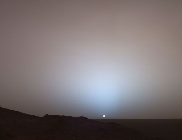 Martian sunset: Spirit at Gusev crater
