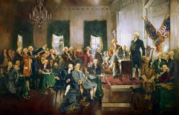 Signing the U.S. Constitution