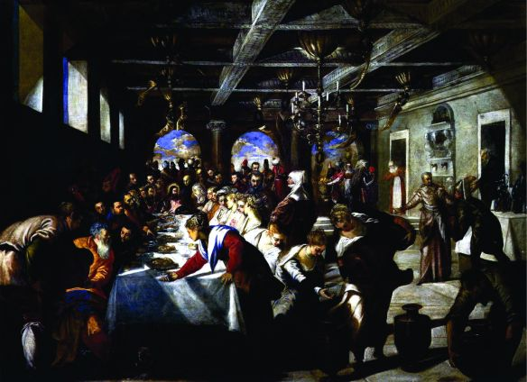 Marriage at Cana, (1561), Jacopo Tintoretto (1518–1594)