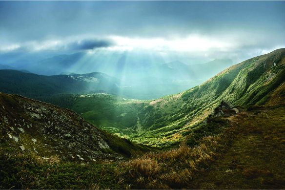 Carpathian National Park from Hoverla