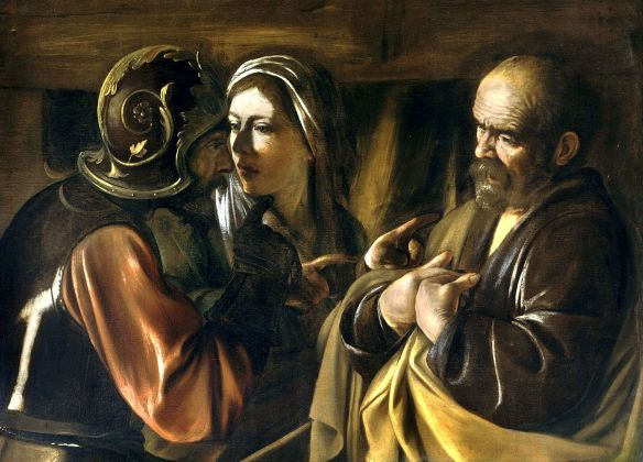 The Denial of Saint Peter - Carravagio (1610)
