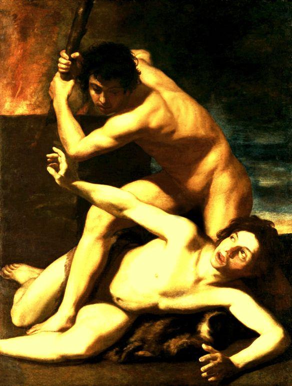 Cain Kills Abel, circa 1610, Bartolomeo Manfredi (1582–1622)