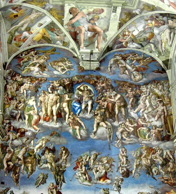 The Last Judgment, Sistine Chapel, from 1536 to 1541, Michelangelo (1475-1564)